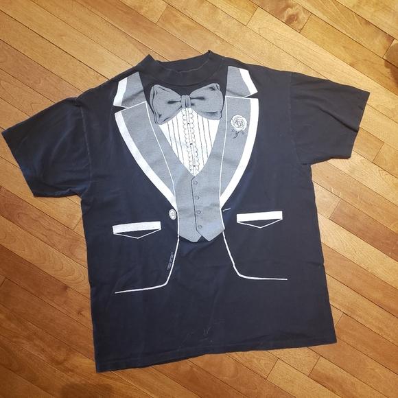 2 for $10 | Vintage 1980 Tuxedo T-Shirt